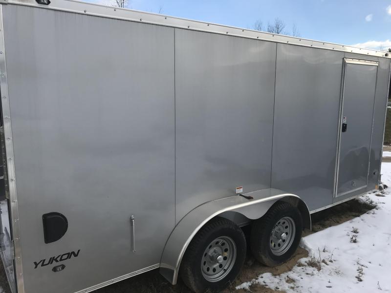2019 Qualitec 7x14 Silver Ramp Enclosed Cargo Trailer