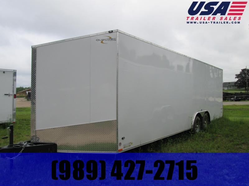 2019 Qualitec 8.5 x 28 White Enclosed Cargo Trailer
