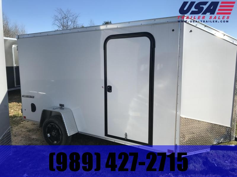 2019 Impact Trailers 6x12 White Barn Enclosed Cargo Trailer