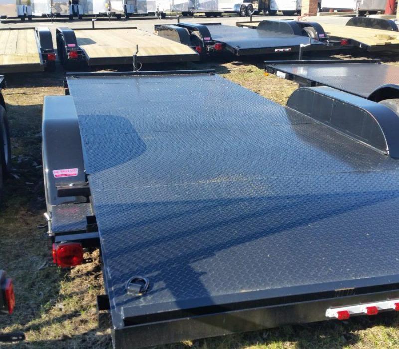20' A.M.O. Car Hauler Trailer Steel Deck