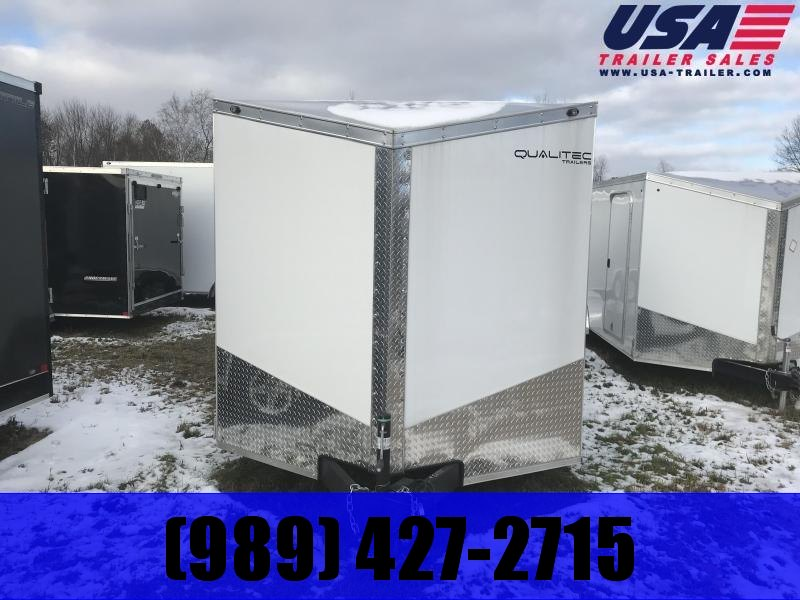 2020 Qualitec 7x16 White Ramp Enclosed Trailer