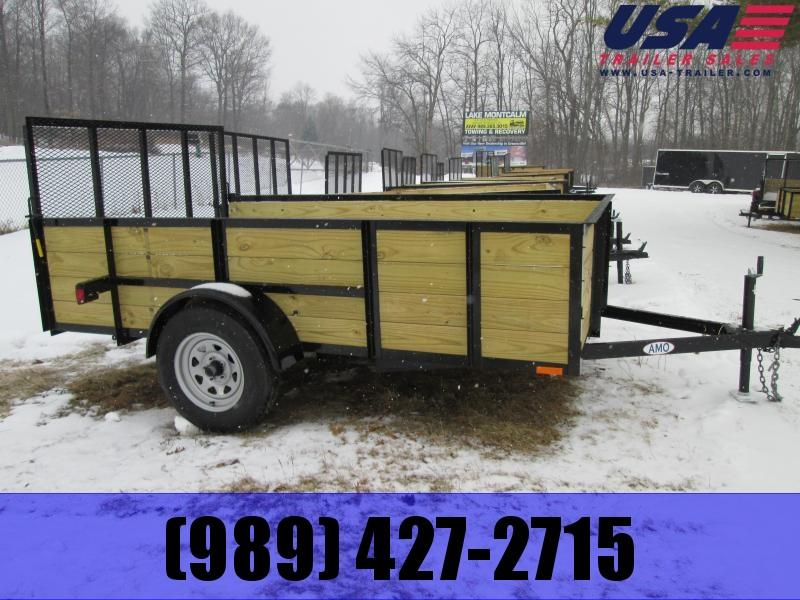 2019 AMO 5x10 Wood Side High SIde Utility Trailer