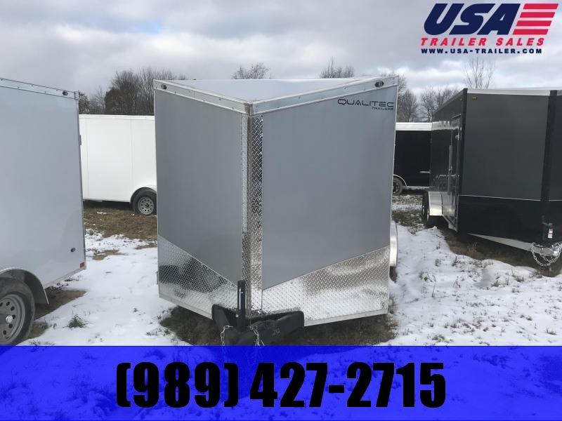 2019 Qualitec 7x16 Silver Ramp Enclosed Cargo Trailer