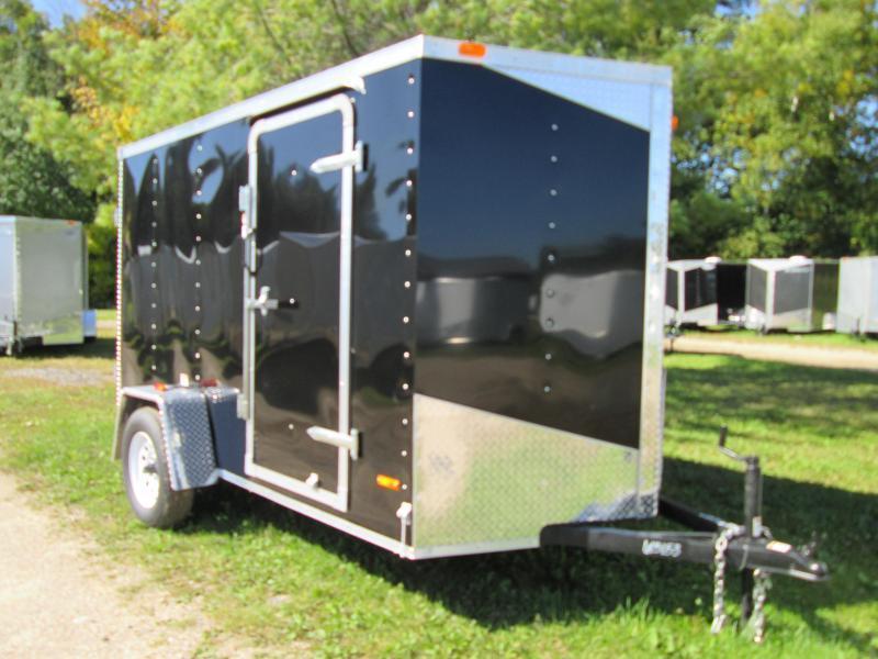 2019 MTI Trailers 6x10 Black Enclosed Cargo Trailer