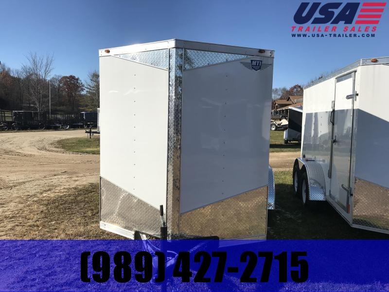 2018 MTI Trailers 6x12 white ramp Enclosed Cargo Trailer