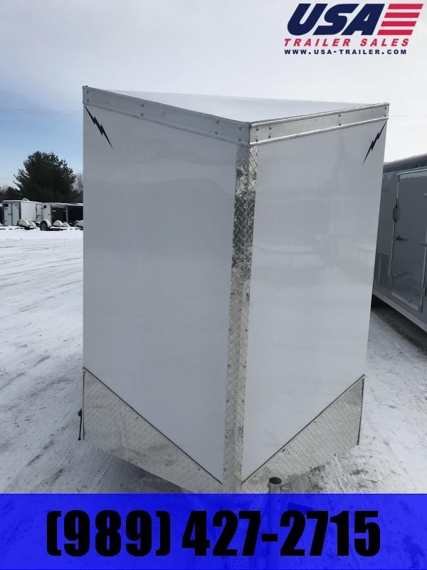 2020 Lightning Trailers 6 x 10 White Barn Enclosed Cargo Trailer