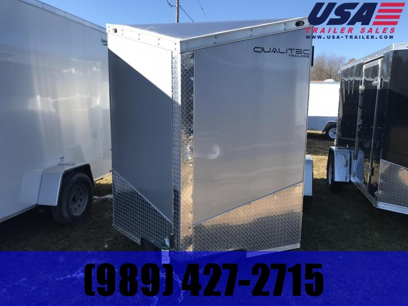 2019 Qualitec 6x12 Silver Ramp Enclosed Cargo Trailer