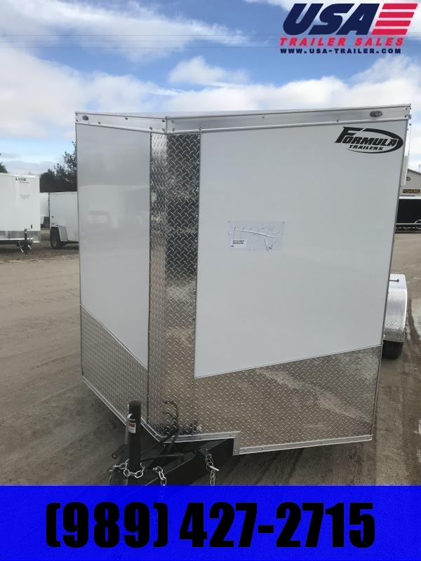 2019 Formula Trailers 7x16 White Ramp +12