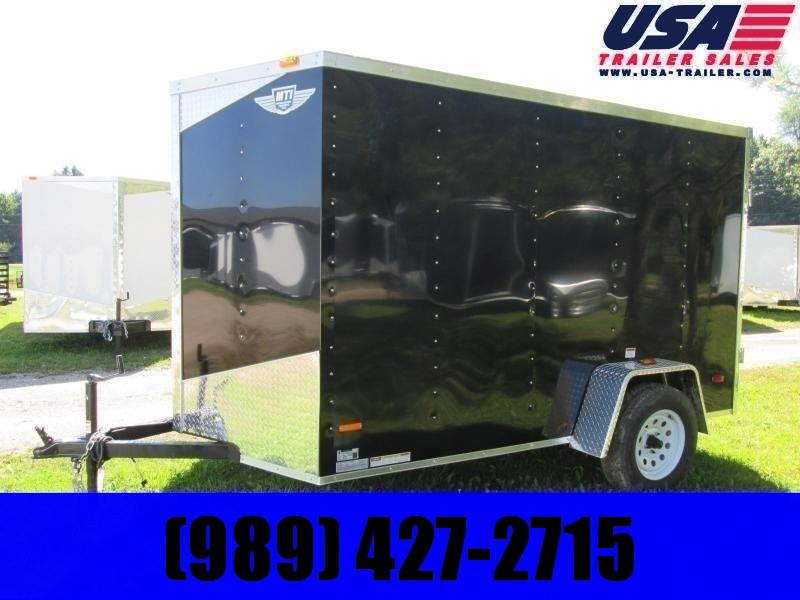 2020 MTI Trailers 6x10 Black Enclosed Cargo Trailer