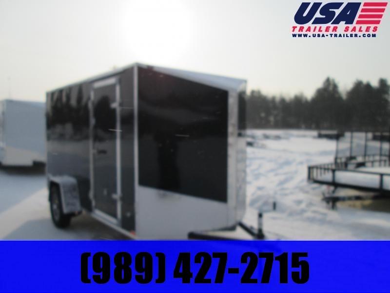 2020 Qualitec 6x12 Black Barn Doors Enclosed
