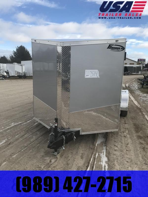 2020 Formula Trailers 7x16 Silver Ramp +12 Enclosed Cargo Trailer