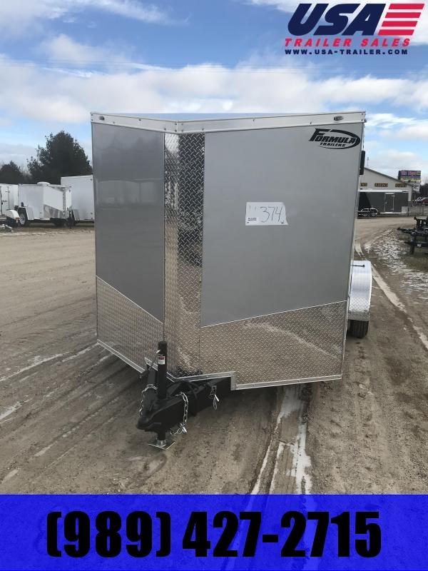 2020 Formula Trailers 7x16 Silver Ramp +12 Enclosed Cargo Trailer