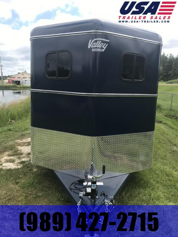2020 Valley Trailers 2820 14' TWO HORSE Livestock Trailer