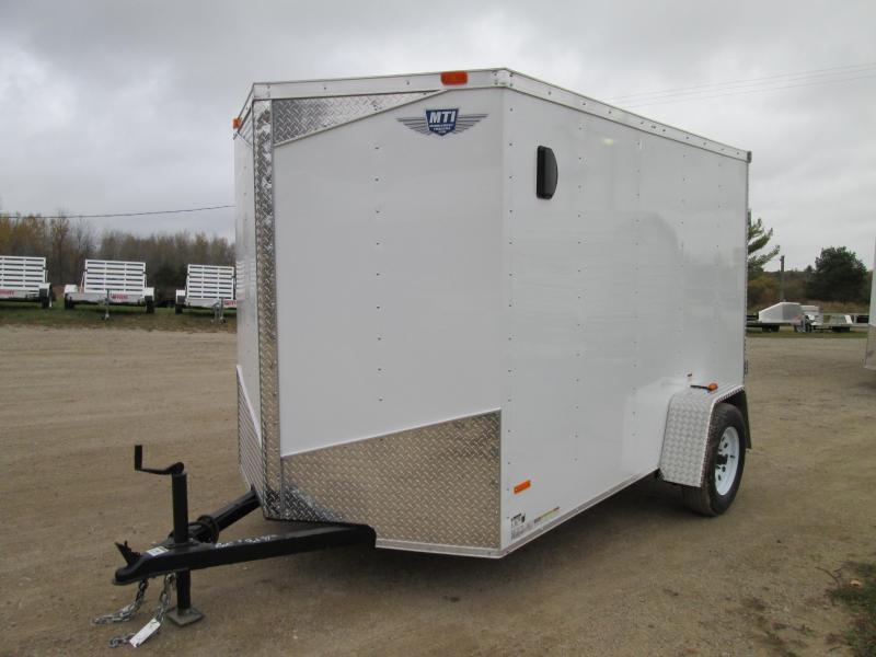 2020 MTI Trailers 6x10 White Swing Door Enclosed Cargo Trailer