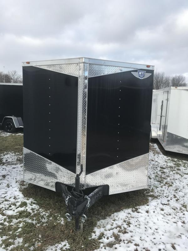 2020 MTI Trailers 7x14 Black Ramp USA Enclosed Cargo Trailer
