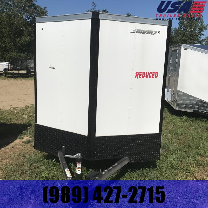 2018 MVM7 6x12 White Ramp Enclosed Cargo Trailer