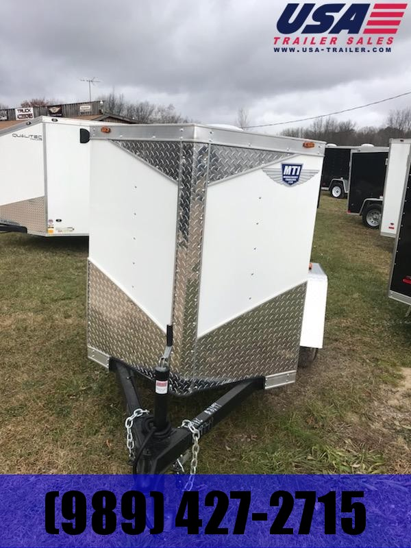 2019 MTI Trailers 5x8 White Swing Door Enclosed Cargo Trailer