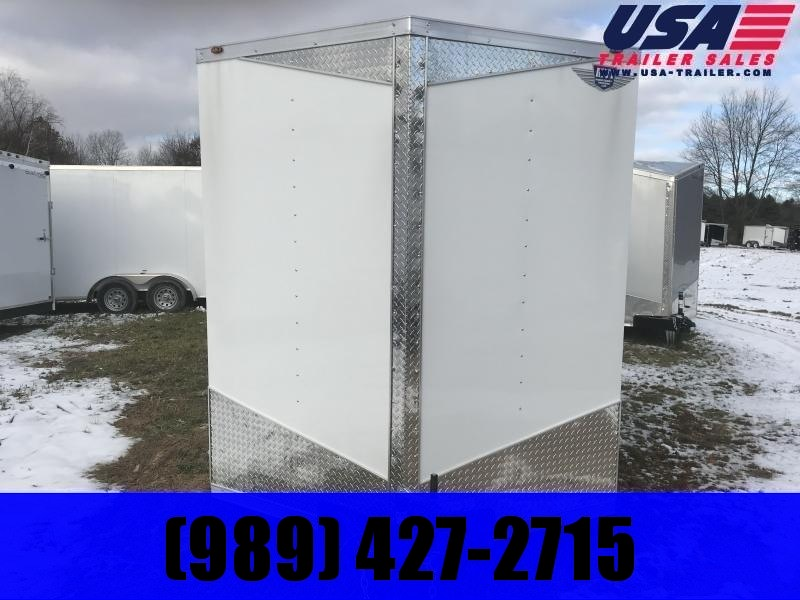 2019 MTI Trailers 7x14 White Enclosed Cargo Trailer