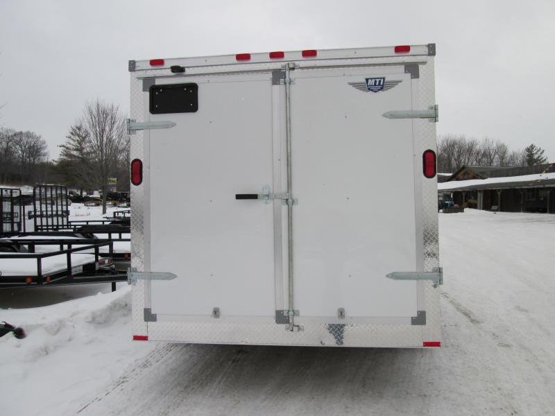 2019 MTI Trailers 7x14 White Enclosed Cargo Trailer
