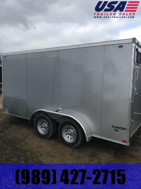 2019 Qualitec 7x14 ramp silver Enclosed Cargo Trailer