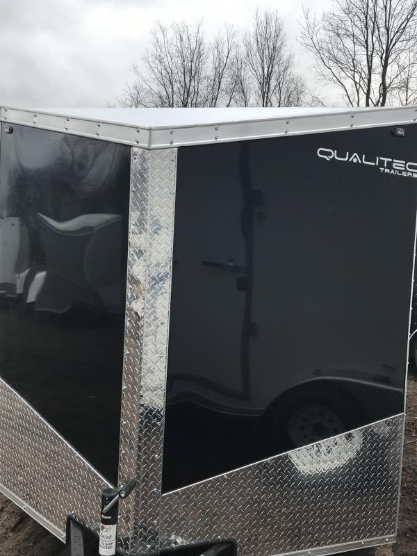 2019 Qualitec 7x16 Black Cargo Trailer