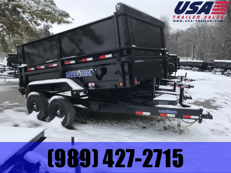New 83x12 Load Trail Dump Trailer W/ 2' Extensions