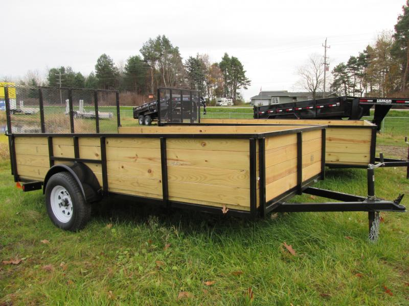 GoldStar 6x14  Wood sided Landscape Tube Steel Utility Trailer