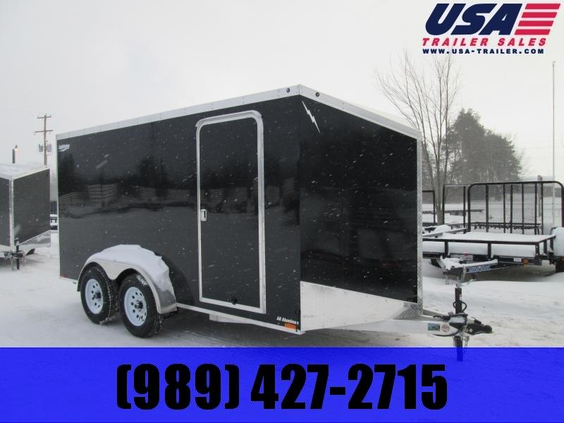 2019 Lightning Trailers 7x14 Black Ramp Enclosed Cargo Trailer