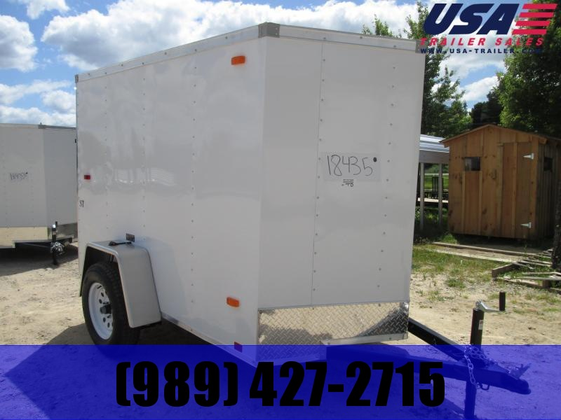 2019 Look Trailers 5x8 white ramp Enclosed Cargo Trailer