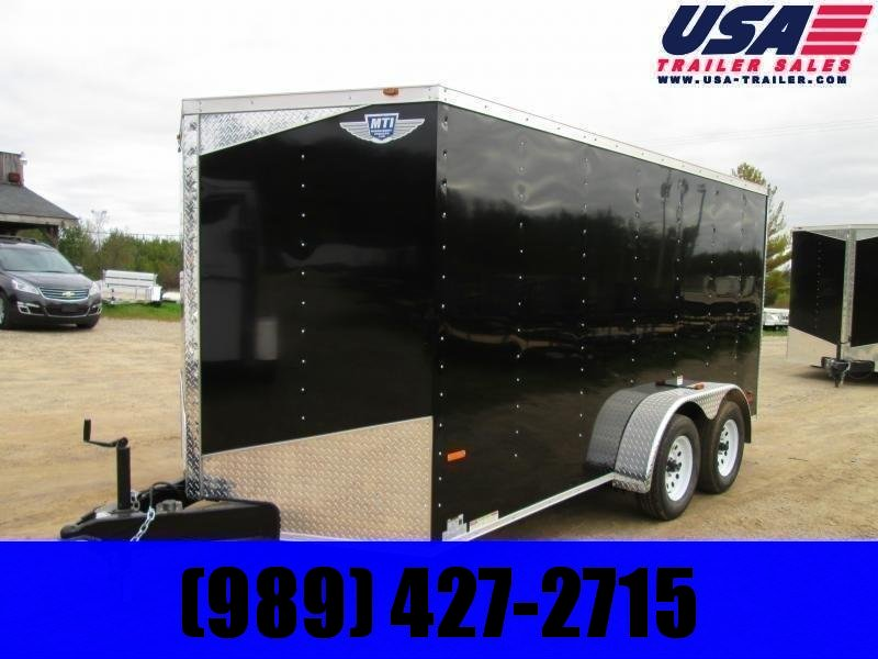 2020 MTI Trailers 7 x 14 Black Enclosed Cargo Trailer