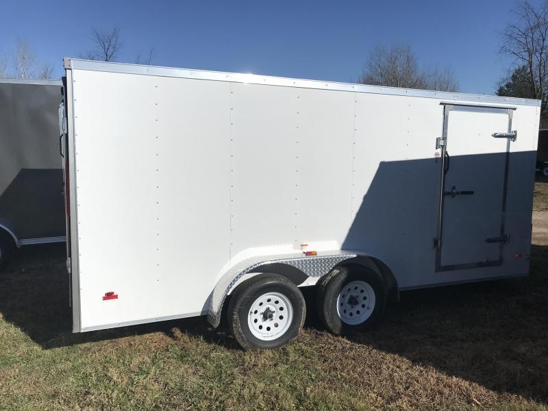 2020 MTI USA Trailers 7x16 White Barn Enclosed Cargo Trailer