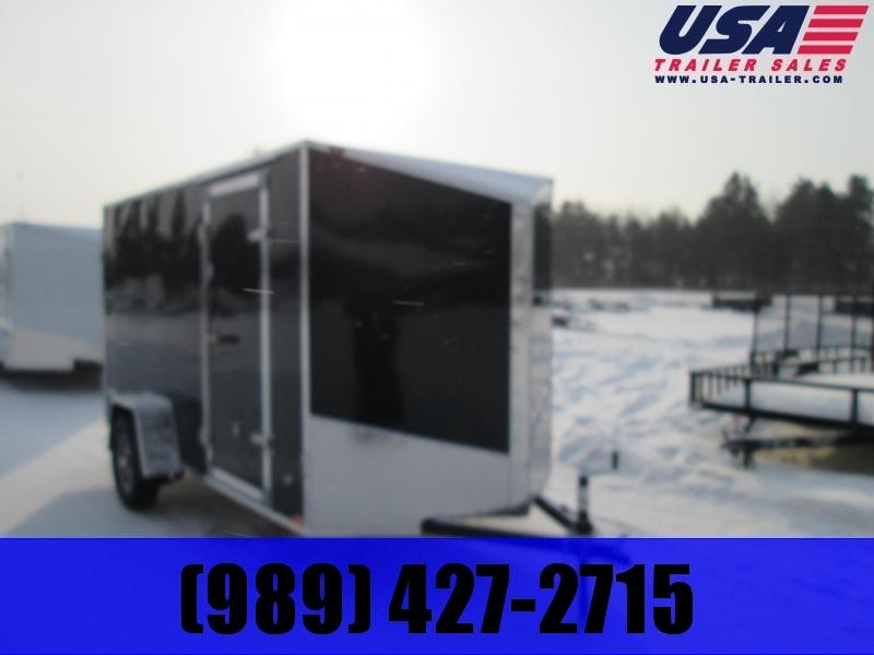 2020 Qualitec 6x10 Black Barn Doors Enclosed Cargo Trailer