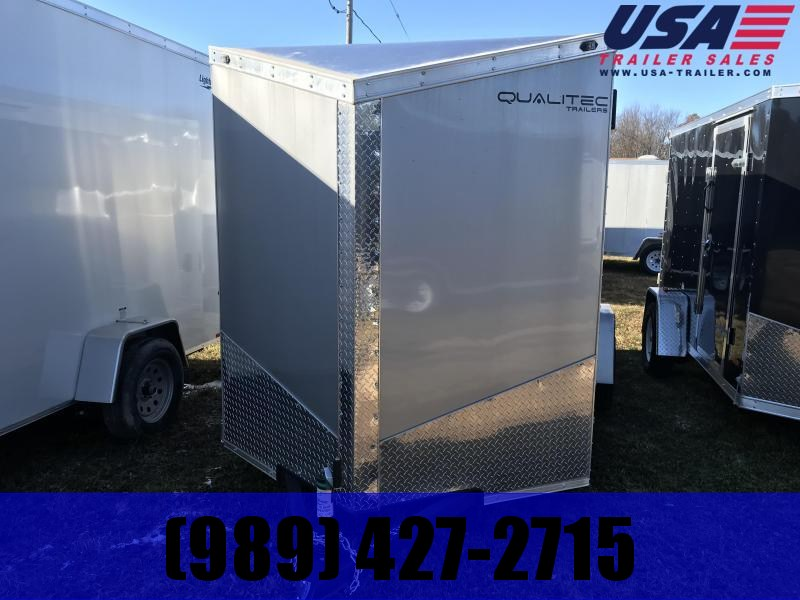 2019 Qualitec 6x12 Silver Barn Doors Enclosed Cargo Trailer