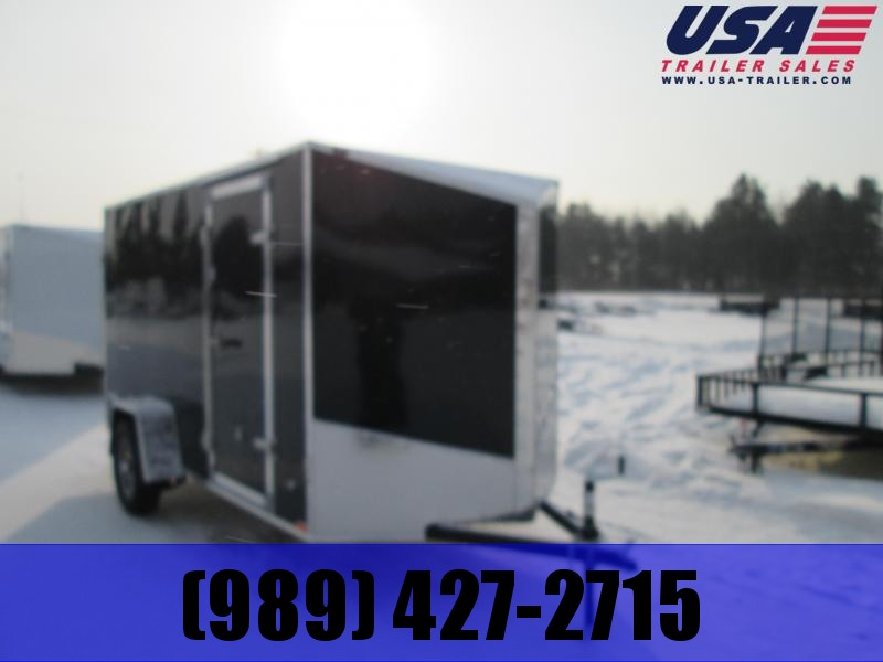 2019 Qualitec 6x10 Black Ramp Enclosed Cargo Trailer