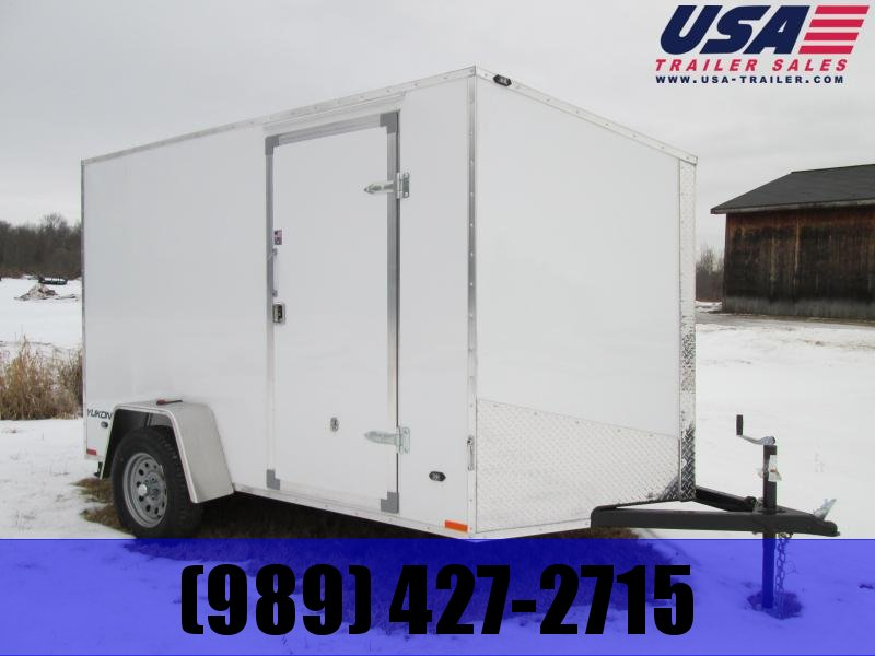2019 Qualitec 6x10 White Ramp Enclosed Cargo Trailer
