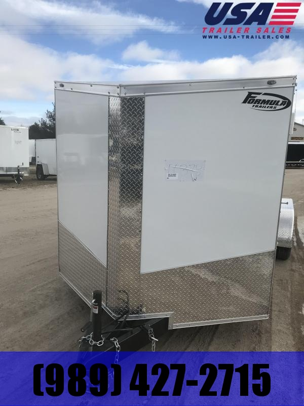 2019 Formula Trailers 7x16 White Ramp Enclosed Cargo Trailer