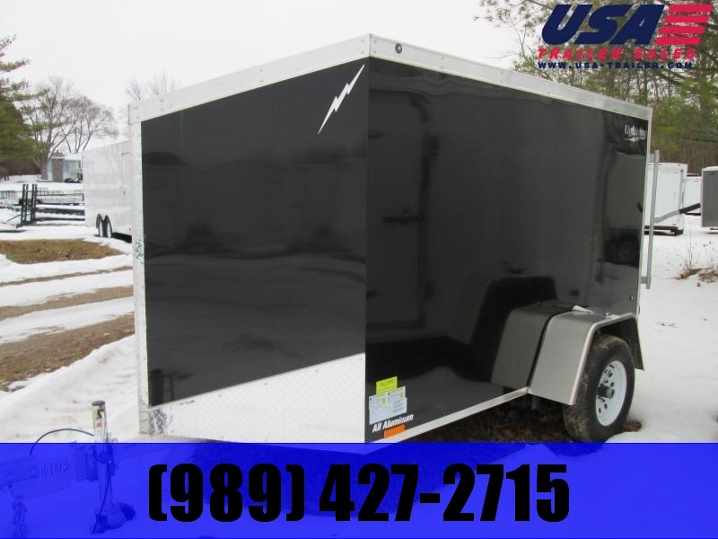 2020 Lightning Trailers 5x8 Black Enclosed Cargo Trailer