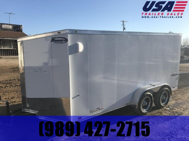 2020 Formula Trailers 7x14 white ramp Enclosed Cargo Trailer