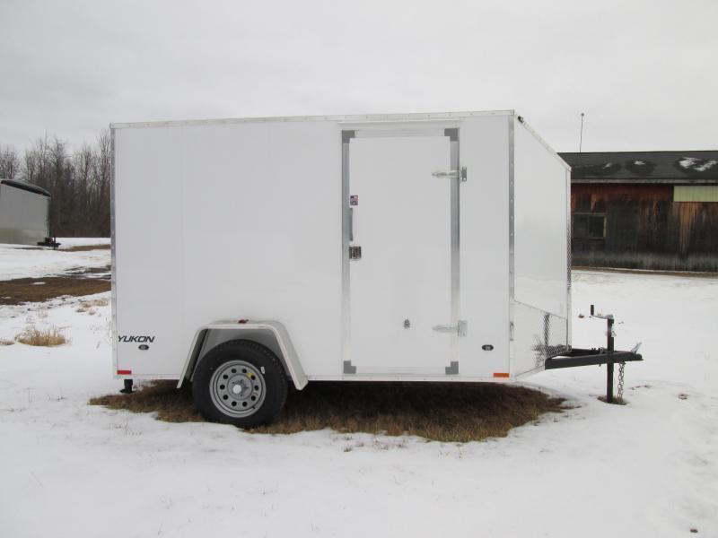 2019 Qualitec 6x12 White Ramp Enclosed Cargo Trailer