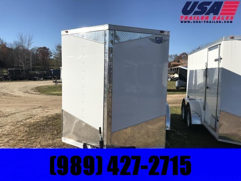 MTI Trailers 6x12 white Enclosed Cargo Trailer