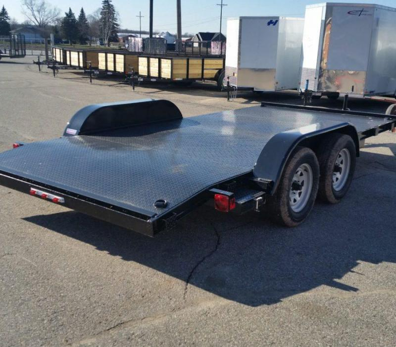 16ft Steel Deck Car Hauler w/ 2 Axle Brake
