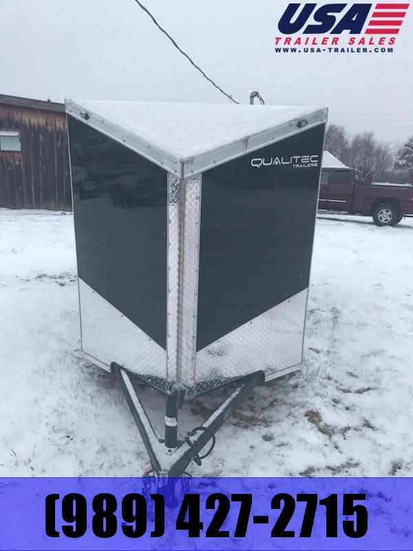 2019 Qualitec 5x8 Black Swing Door Enclosed Cargo Trailer