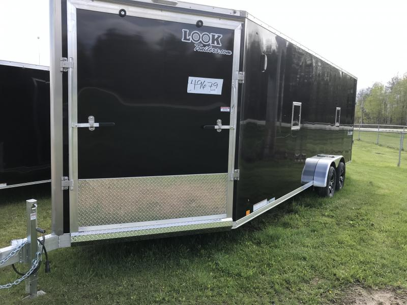 New 7x27 Look Enclosed 4 Place Snowmobile Trailer ADDED HEIGHT