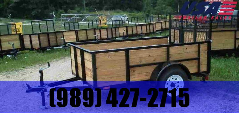 2019 AMO 5x8 Wood Side Utility Trailer