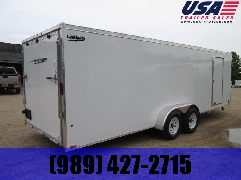 2020 Lightning Trailers 7 x 23 Snowmobile Trailer