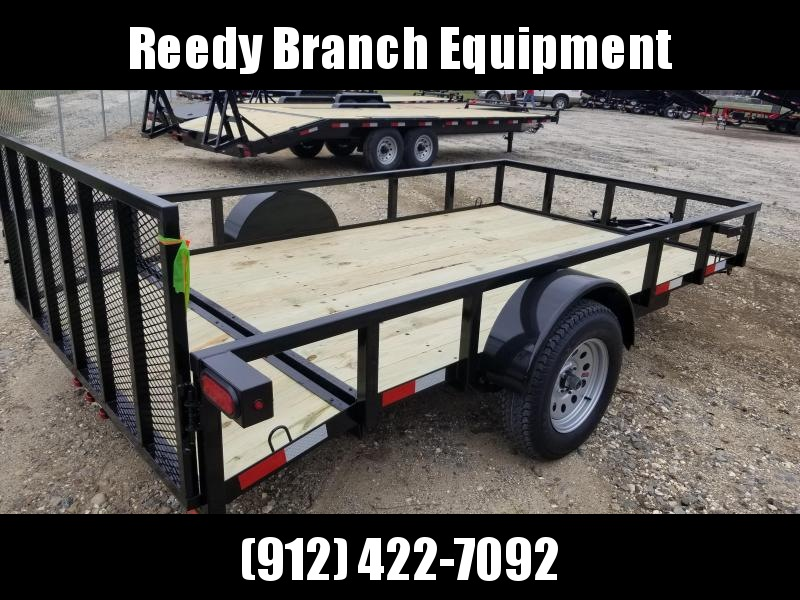 """2020 Down 2 Earth Trailers DTE7612G29 (76""""X12')Dovetail Utility Trailer"""