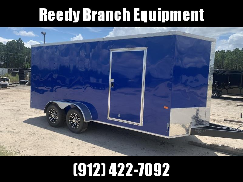 2020 Rock Solid Cargo 7x16-5200lb Electric Blue Enclosed Cargo Trailer