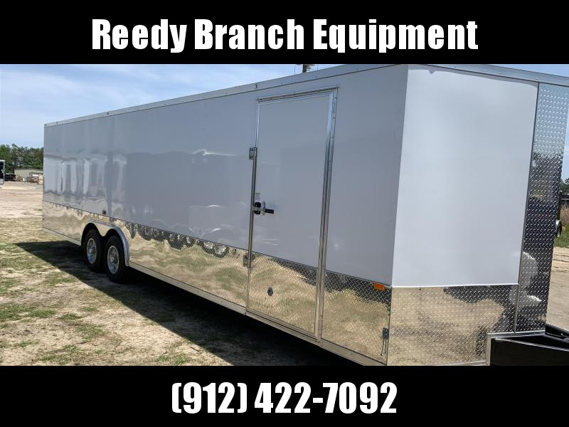 New 8.5x28 (5200lb) Enclosed Car Hauler w/ Upgrades