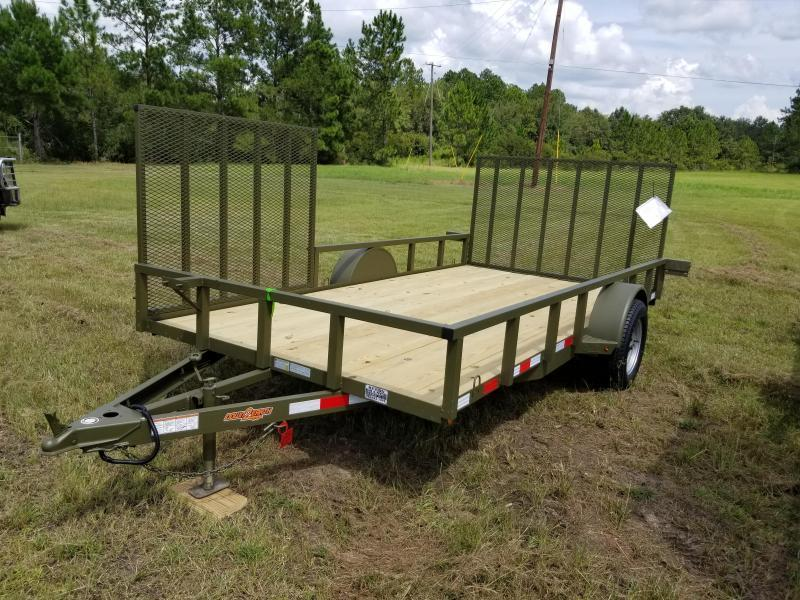 """ON SALE! New (2019) 82""""x14' w/ Side Gate Down to Earth Utility Trailer!"""