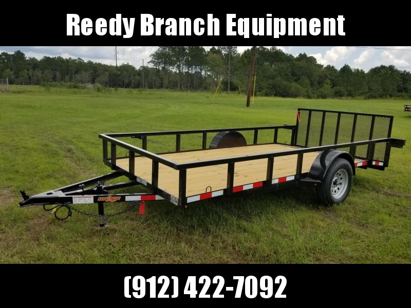 """2019 Down 2 Earth Trailers DTE7614G29 (76""""X14')Dovetail Utility Trailer"""